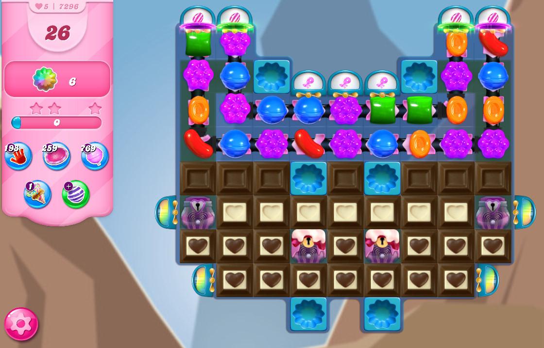 Candy Crush Saga level 7296