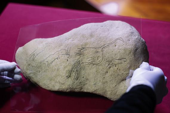 Muestra de arte rupestre hallada en el yacimiento de L'Hort de la Boquera. Foto: Domingo et al.