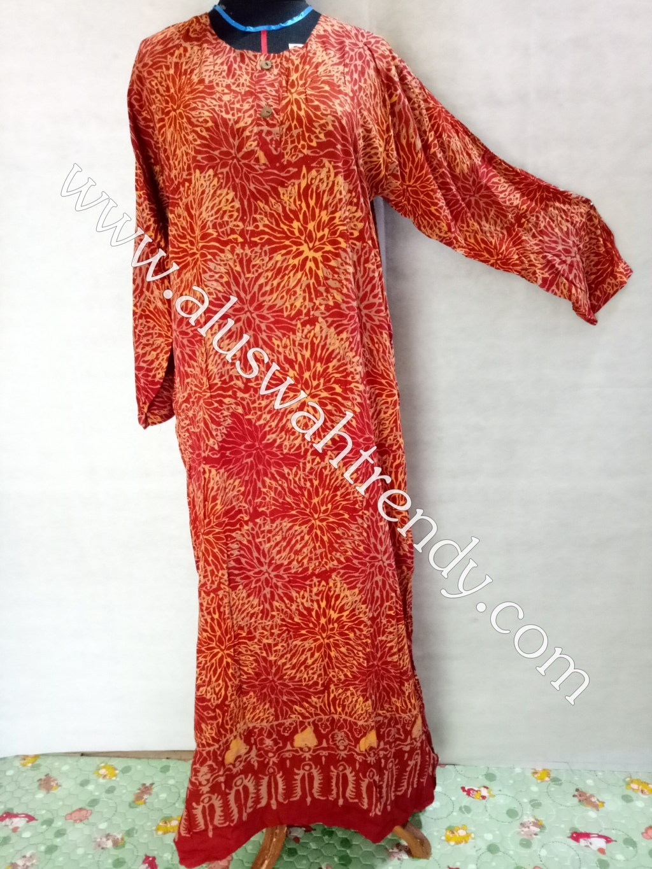 Gamis Motif Bahan Rayon 049