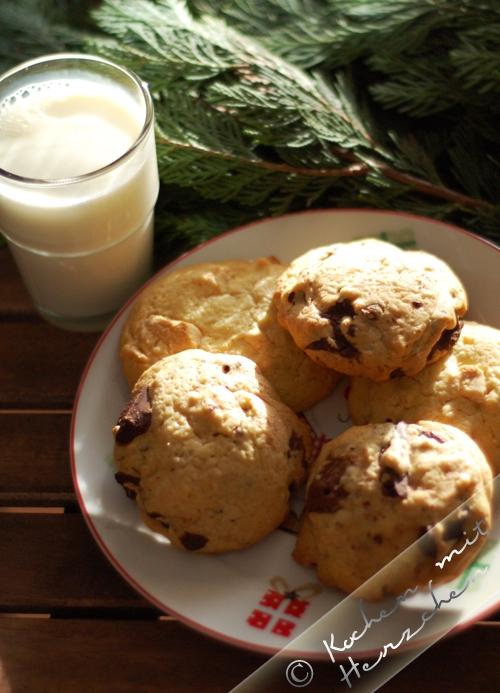 Weihnachtsbäckerei - Schoko-Cookies