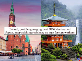 Due to a labor shortage, Poland is currently considering hiring Filipino workers. Right now, it is reported that Poland is forging an agreement with Philippines authorities so that Filipino workers may able to work in the said European country. According to Deputy Labor Minister Stanislaw Szwed, they are hoping to have an agreement with the Philippines by September this year. The country is particularly looking to attract qualified workers in the Information Technology (IT), medical and construction sectors. According to some analyst, the country will be short for at least four million workers by 2030 and this is already hurting the economy. The labor shortage in Poland is due to the continued emigration of its own workforce to other European Countries.   He added that Poland and the Philippines shared many cultural values because both are Roman Catholic Countries. Currently, Poland depends on its neighbor Ukraine to fill the gap in the employment.  Meanwhile, Japan is also facing a labor shortage and plans to accept more foreign workers to lessen the effect on the economy. Aside from this, the country is considering a major policy change for its non-Japanese workers. With this Prime Minister, Shinzo Abe instructed Cabinet ministers to make amendments for Japan to accept more foreign workers by offering a new residential status starting April next year.   Currently, only foreign nationals working in the sector of education, business management, law and health care are the only one given with residential status.  As of October 2017, foreign workers in Japan reached 1.28 million. China takes the largest part or about 30 percent followed by Vietnam, Philippines, and Brazil.