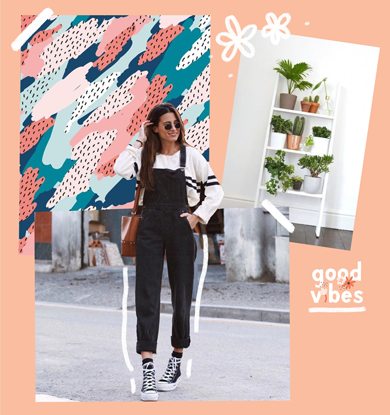 a moodboard and three small goals for may ootd lettering decor