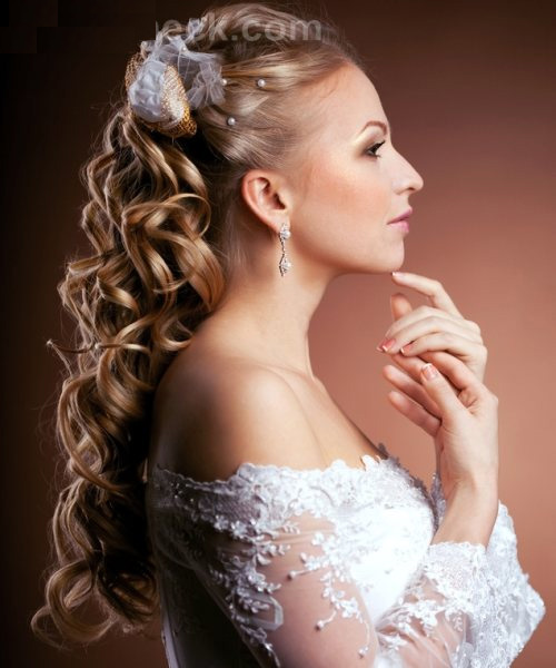 Curly Hair Wedding Styles: Poisonyaoi: Curly Wedding Hairstyle