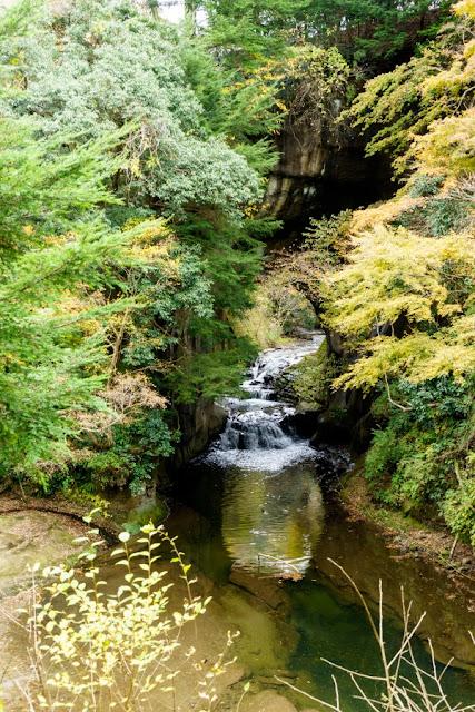 農溝の滝(亀岩の洞窟、北辰妙見洞)~清水渓流公園(千葉)
