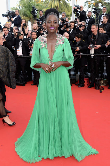Lupita Nyong'o in Gucci for Cannes 2015