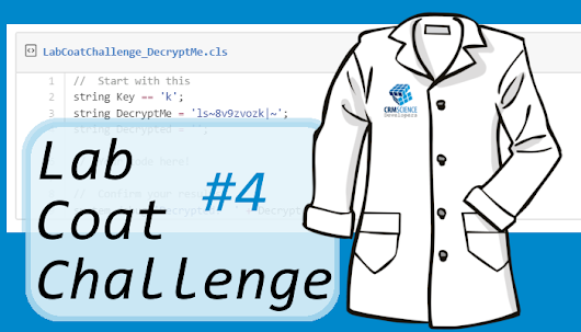Lab Coat Challenges: Challenge #4 Now Available ~ CRM Science