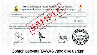 RM1500 Menanti Anak Kelahiran Negeri Selangor