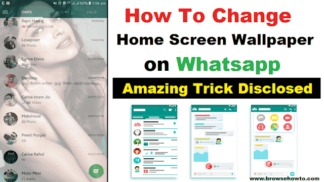 Change home screen background on whatsapp