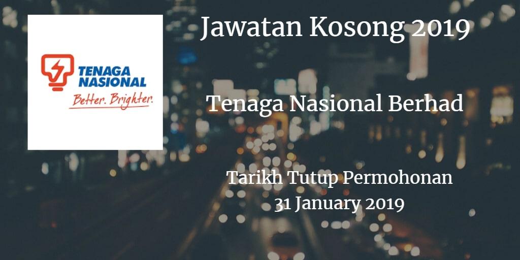Jawatan Kosong TNB 31 January 2019