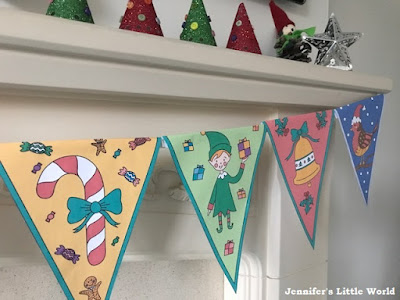 Mrs Mactivity printable coloured Christmas bunting