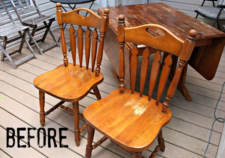 Vintage arrow back chairs with damaged finish