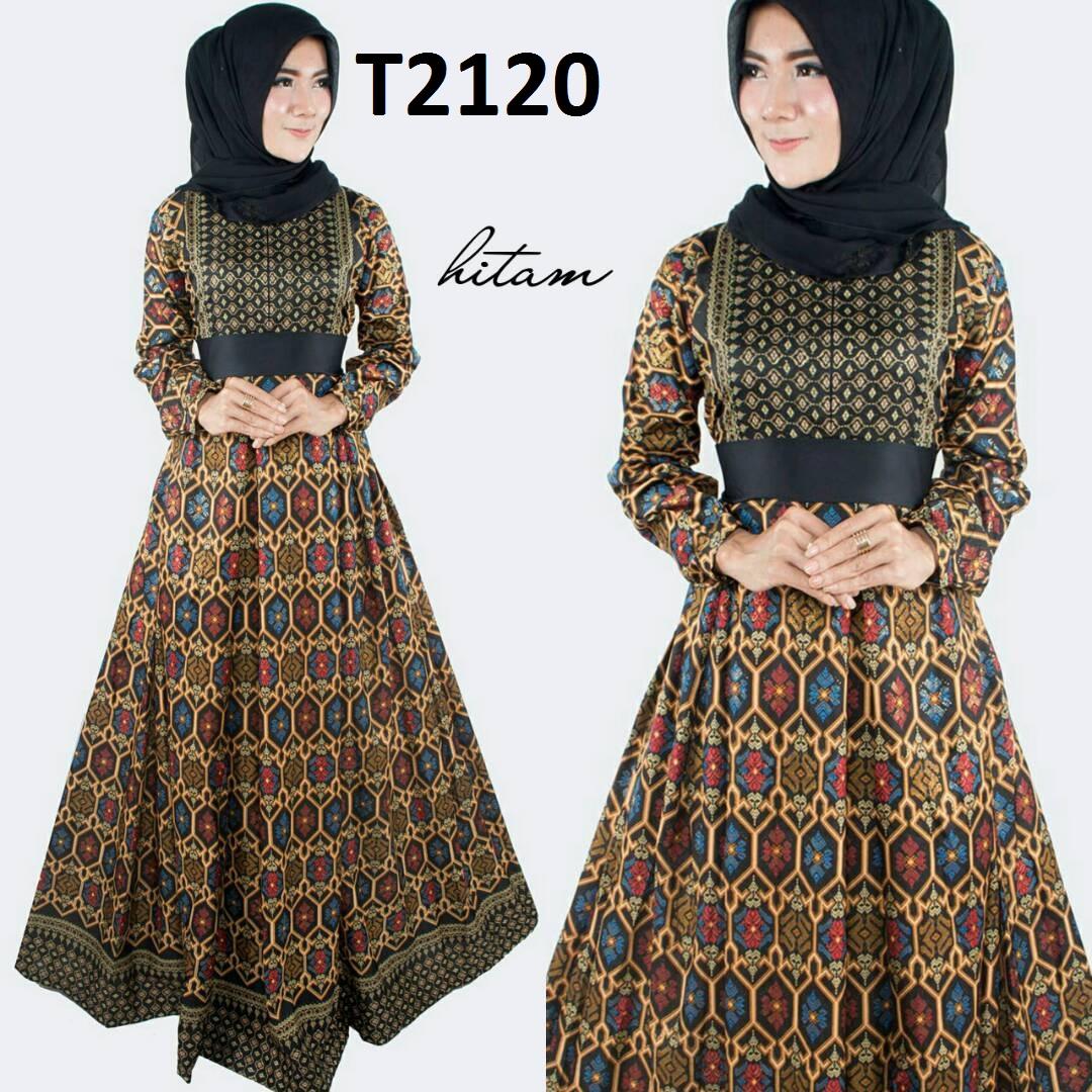 Model Gamis Batik Tulis Terbaru: Baju Gamis Batik Wanita Terbaru