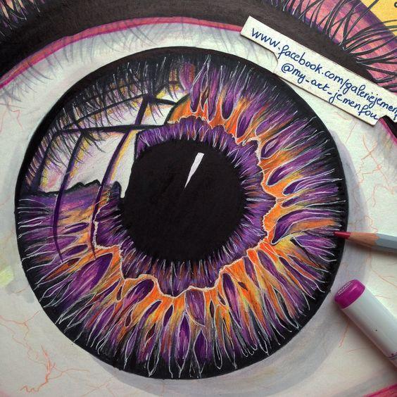 15 Dibujos de ojos hechos a lápiz tan reales como increibles