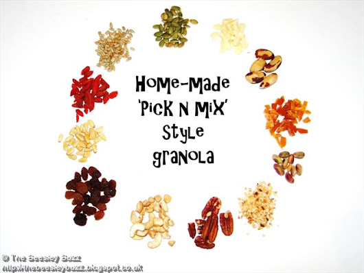 Home-made 'pick n mix' granola