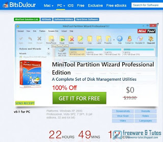 Giveaway : MiniTool Partition Wizard Professional Edition 9.1 free !