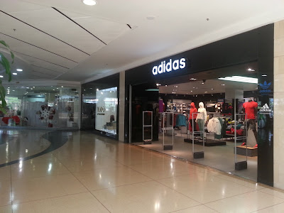 A Christmas-less Adidas store in Bogotá, Colombia.