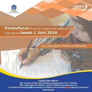 pendaftaran UT 2016