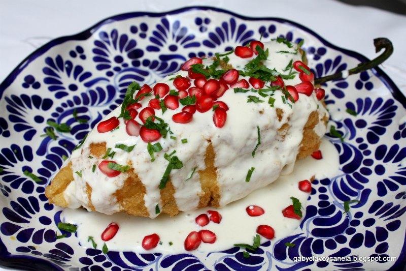 Chiles in Nogada Recipe| Stuffed Poblano Pepper Recipe | Authentic Mexican Recipes by Mexico in My Kitchen
