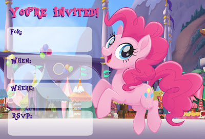 My Little Pony Movie party invitations