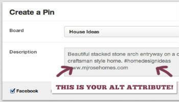 pinterest-Create a Pin and alt attribute optimization-350x200