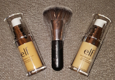 e.l.f. Beautifully Bare Foundation Serum and Blending Brush