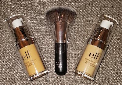 e.l.f. Beautifully Bare Foundation Serum and Blending Brush