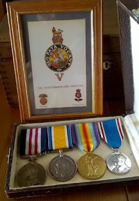 The medals of CQMS Gawin Wild, photograph kindly provided by David Devigne