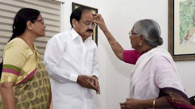 भारत के अगले उपराष्ट्रपति बने वेंकैया नायडू,  बधाइयों का लगा तांता