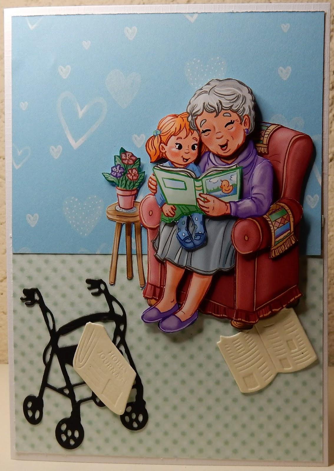 Fabulous Hetty's Knutselhokkie!: Yvonne Creations Funky Nanna & Grandpa &VJ27