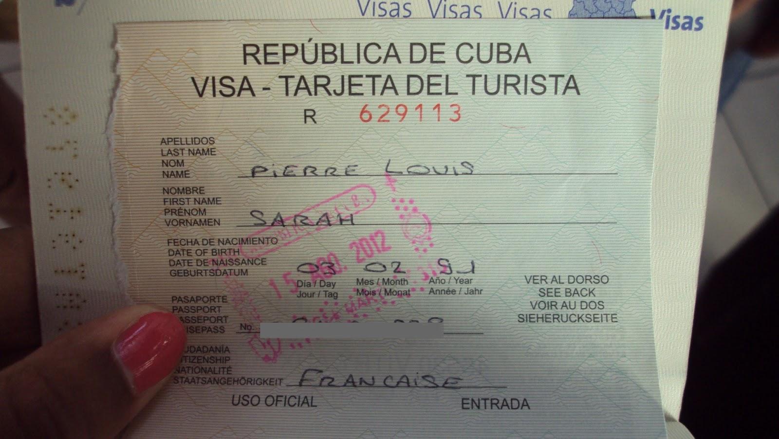 Comment Remplir Carte Touristique Cuba   COMMENT REMPLIR