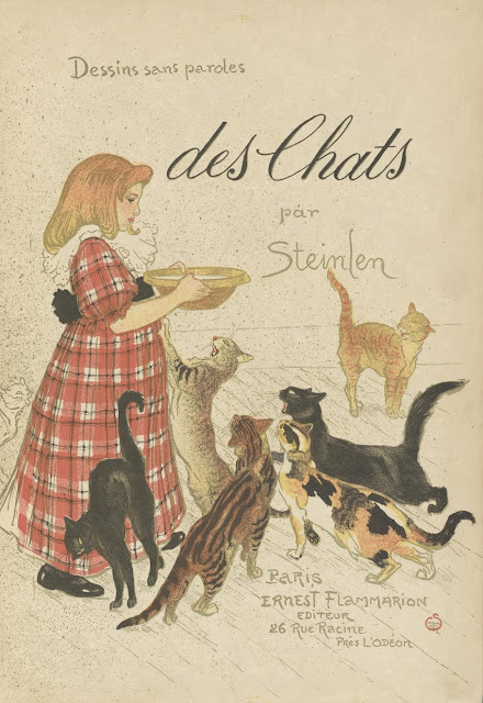 Artists' Book Des chats, dessins sans paroles  Théophile Alexandre Steinlen, 1898