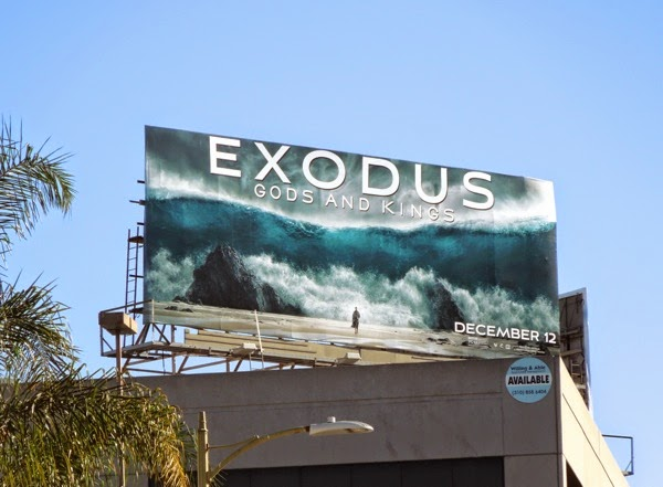 Exodus Gods and Kings movie billboard
