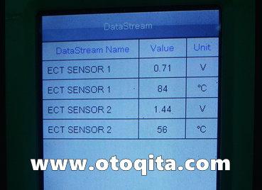 Data suhu mesin dan radiator honda brio