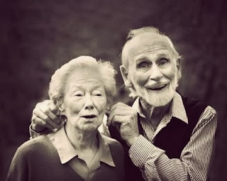 Funny old couple fart church joke photo