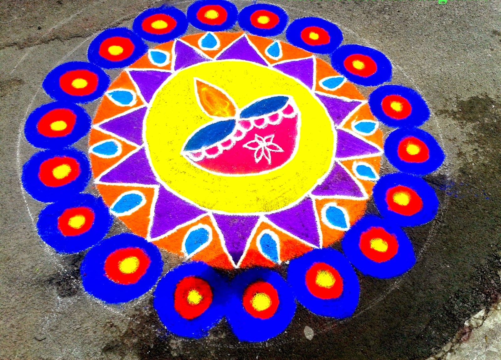 Rangoli design for Functions