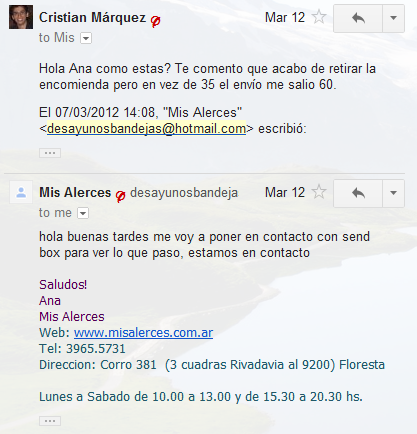 Mis Alerces estafadores 1