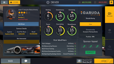 Tampilan Game Motorsport Manager Mobile 2 Android