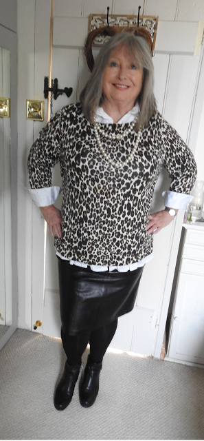 Leopard-print-white-shirt-skirt