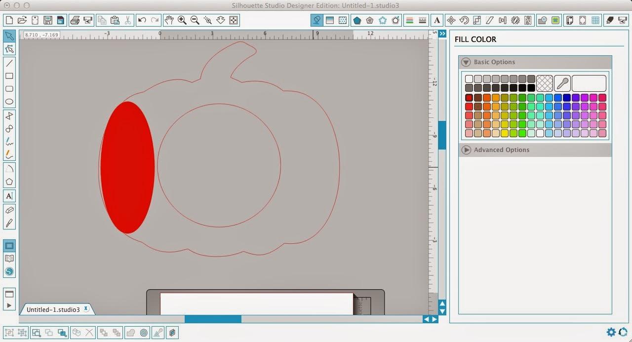 Monogram, pumpkin, Silhouette Studio, Silhouette tutorial, oval