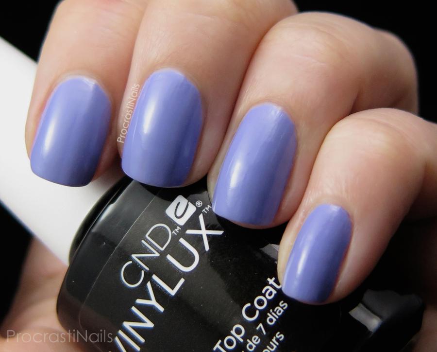 Swatch of Wisteria Haze a lavender creme nail polish