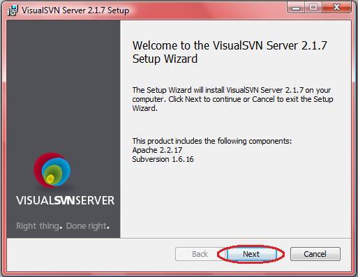 Java EE Developer: Installing and configuring VisualSvn-Server