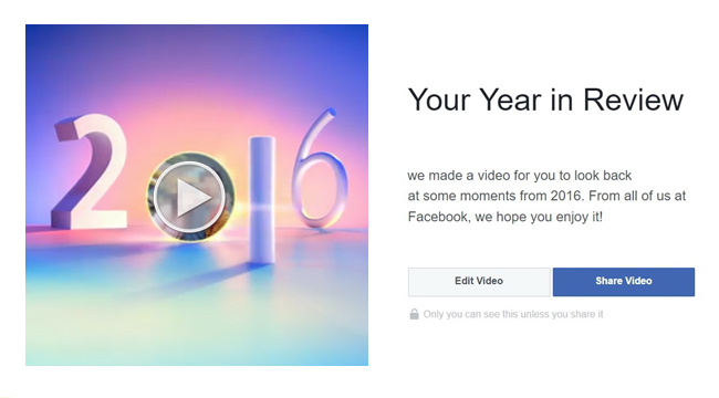 How to Make Your Video of Facebook Year in Review 2016
