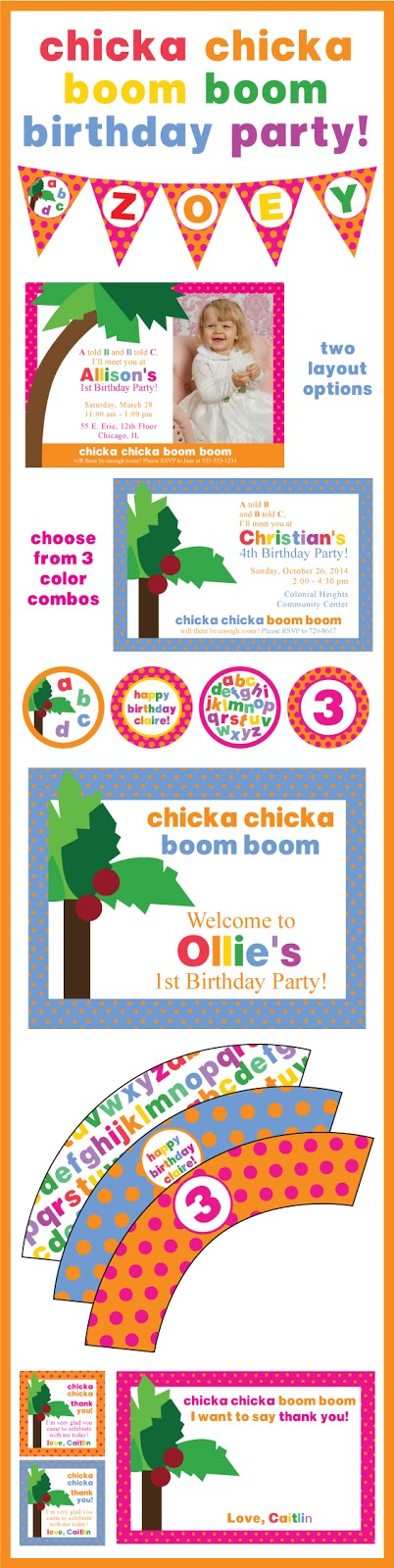 Chicka Chicka Boom Boom Birthday Party Pack