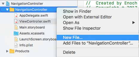 Study Swift: UINavigationController() - Embed the view controller in