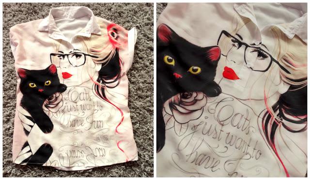 SheIn satynowa bluzka + inspiracje