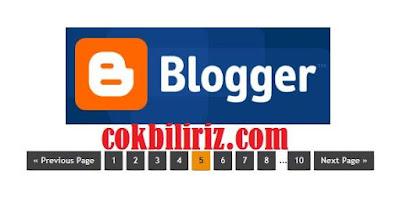Blogger Page Navigation (Sayfalama) Eklentisi