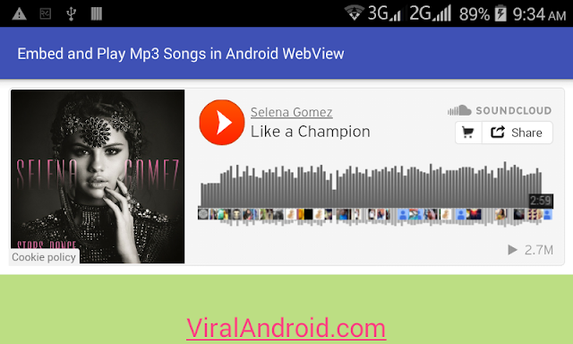 Android Example: How to Embed and Play Mp3 Songs/Music in Android WebView