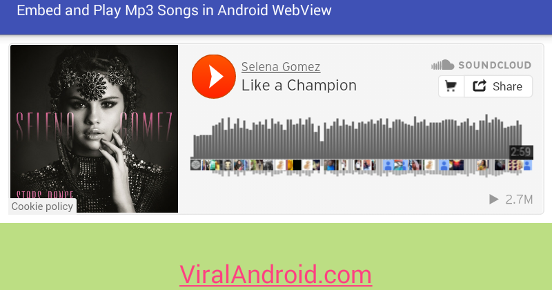 Embed and Play MP3 Songs/Music in Android Application Using WebView