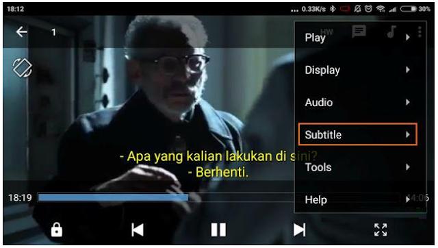 Cara Nonton Film dengan Subtitle terjemahan di Ponsel Anda
