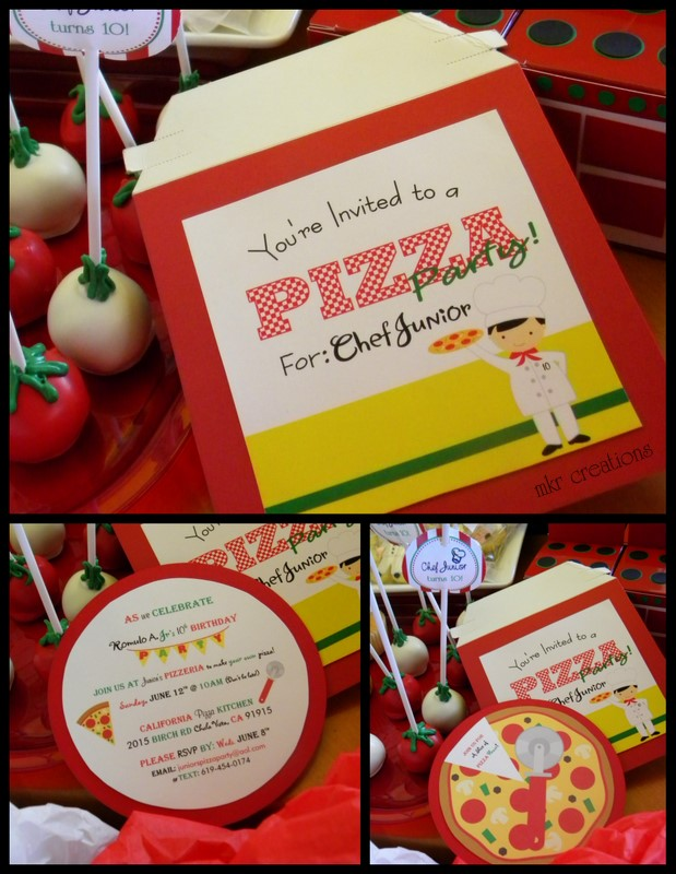 Marvelous California Pizza Kitchen Kids Party #4: Kids Chef Pizza Party Theme!